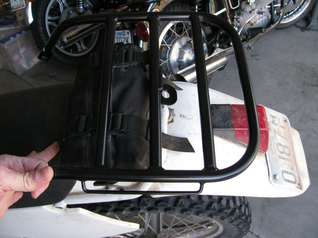 Fitting a ManRacks DR350 luggage rack to my 1993 Suzuki DR350.