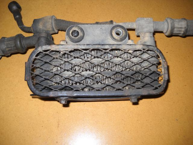 Original oil cooler for a Suzuki DR350.