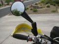 Ram mount mirror fit to a 1993 Suzuki DR350 motorcycle.