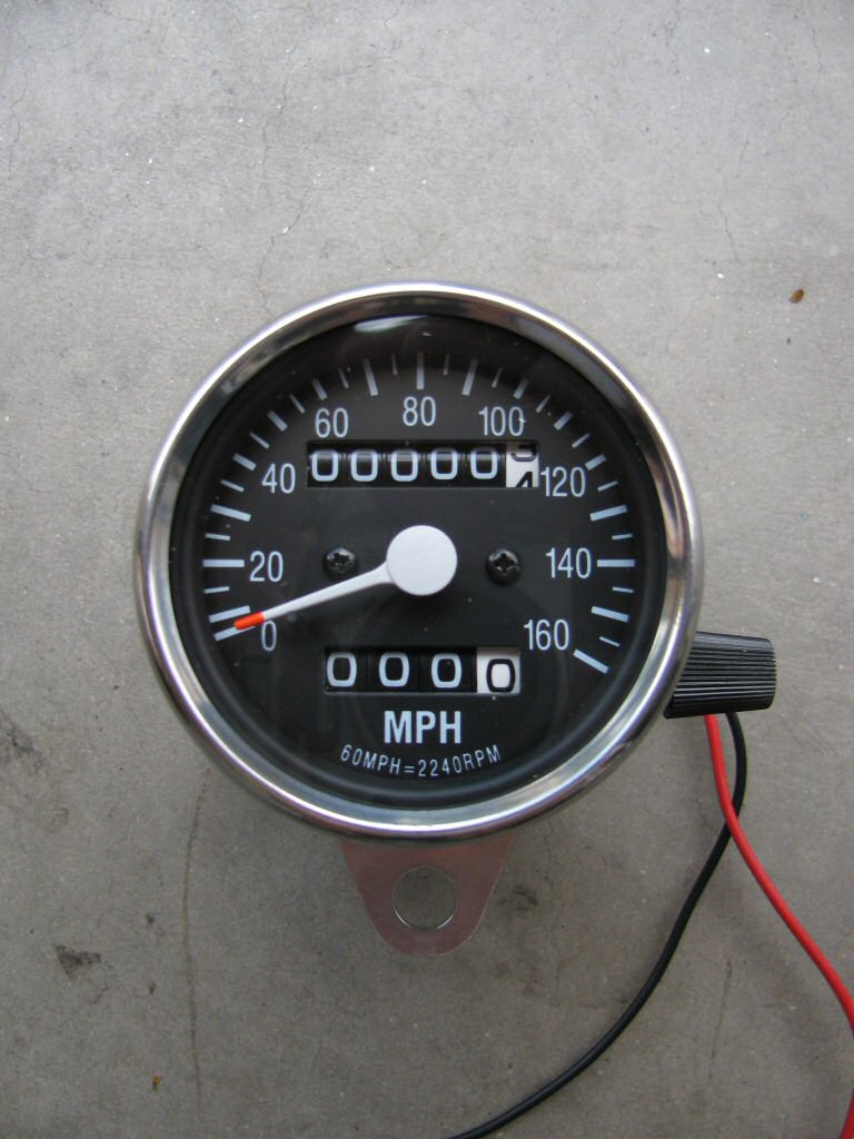 Close up view of the Baja Designs speedometer.