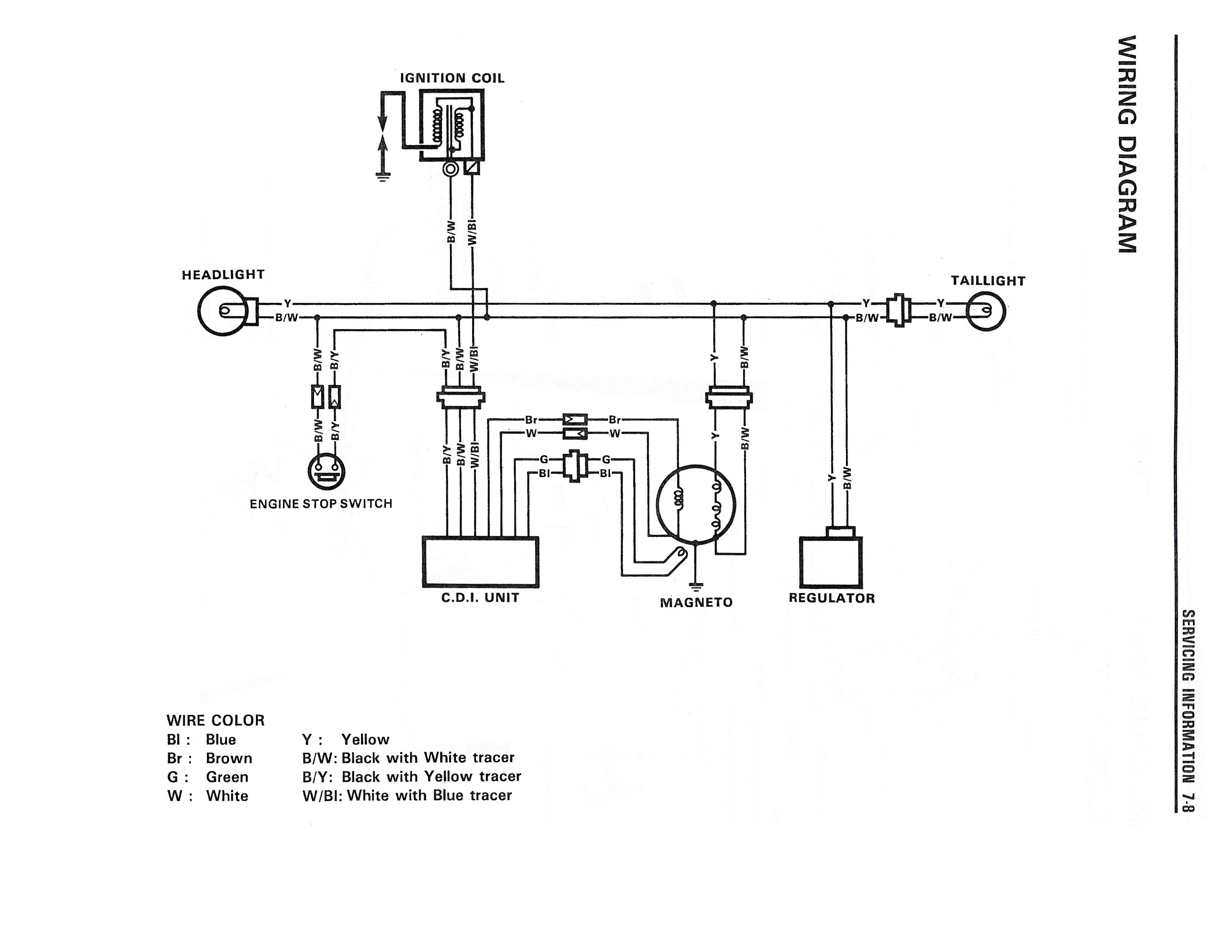 Wiring diagram for the DR350 (1990 and later models)