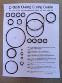 O-ring kit to fit the Suzuki DR650