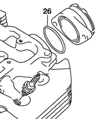 O-ring to seal the carburetor intake manifold to the cylinder head (SPN# 09280-46002).