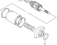 O-ring to seal the starter motor to the engine case (SPN# 31156-48B00).