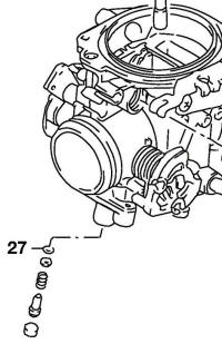 Buna-N O-ring to seal the pilot air/fuel screw to the carburetor body (SPN# 13295-29900).