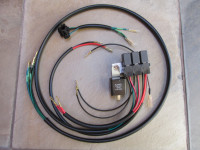 The complete bracket and wiring harness you will receive.