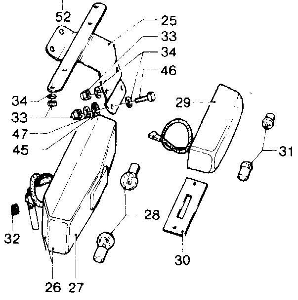 brake and parking lights  14 75 18747650 - moto guzzi parts