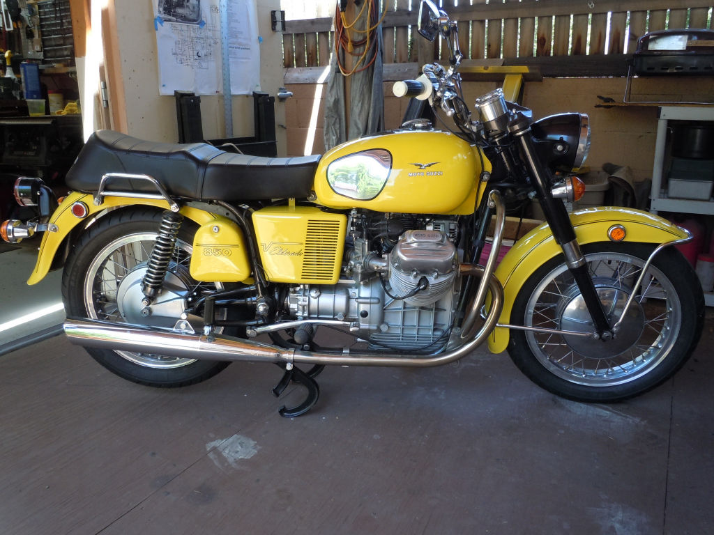 Paul Davis restored his lovely 1972 Moto Guzzi Eldorado, complete with my wiring harnesses.