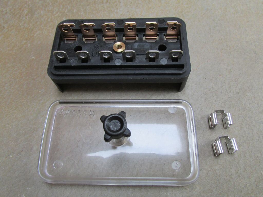 Components Of Fuse Box : Original fuse block  moto guzzi parts