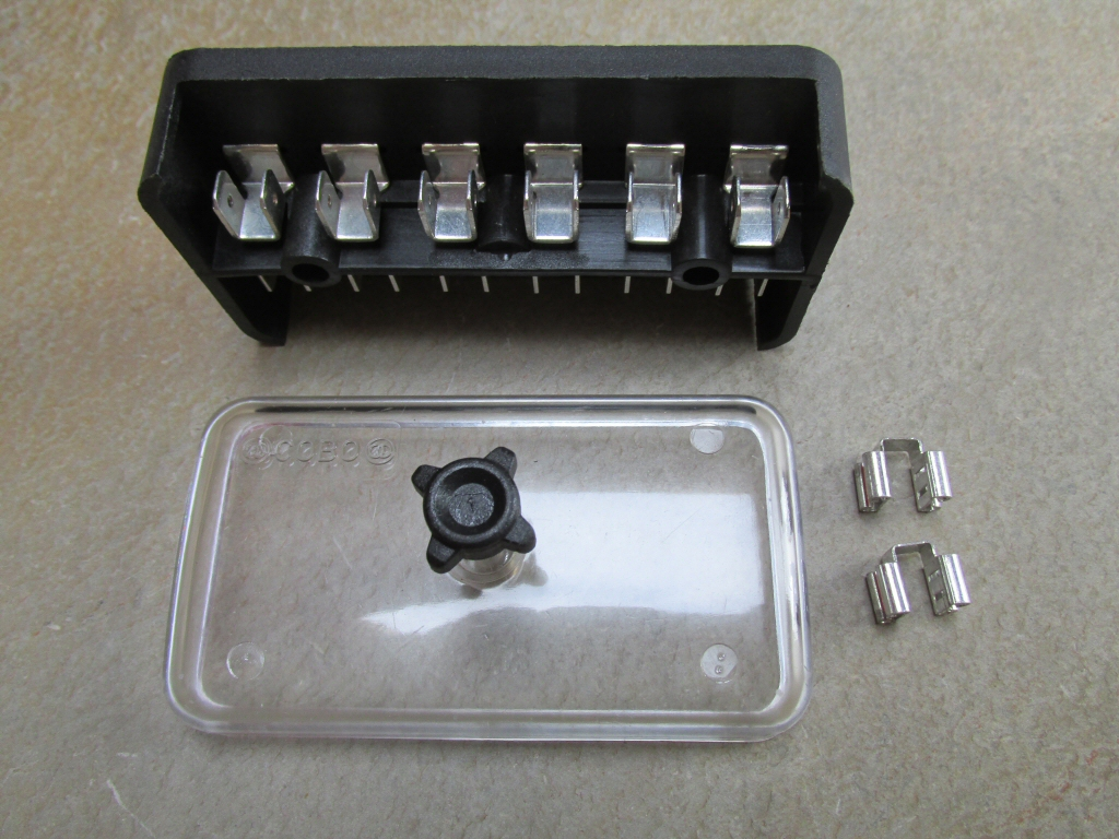 Old Fuse Box Parts : Original fuse block  moto guzzi parts