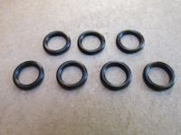 Set of seven O-rings to seal the bulb holders on single instrument police dashes.