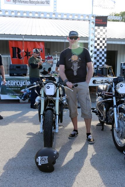 Lee won Best Café Racer at the 2015 Road America's Rockerbox Festival with all four judges from Motorcycle Classics Magazine voting unanimously.