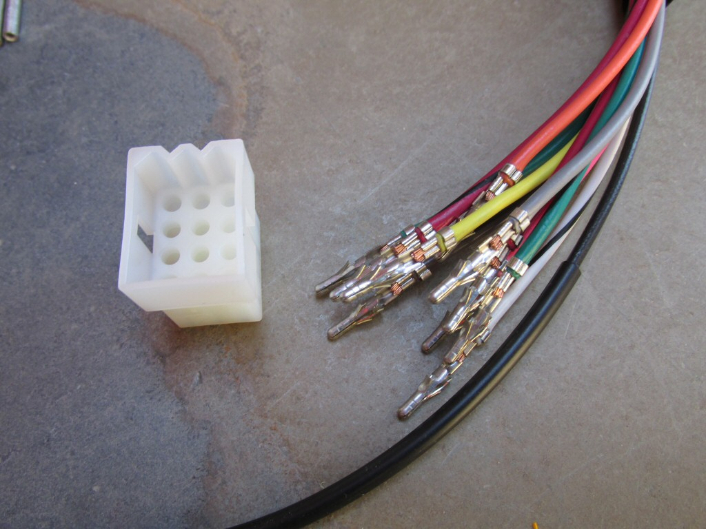 Wiring For Universal Left Handlebar Switches Headlight Parking Harness Connector Plugs 12 Terminal Plug And Wires