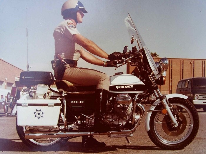 Moto Guzzi 850 T3 in service with the Arizona Department of Public Safety Highway Patrol.