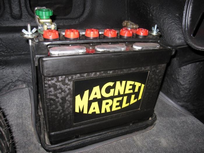 A 22NL battery manufactured by Magneti Marelli.
