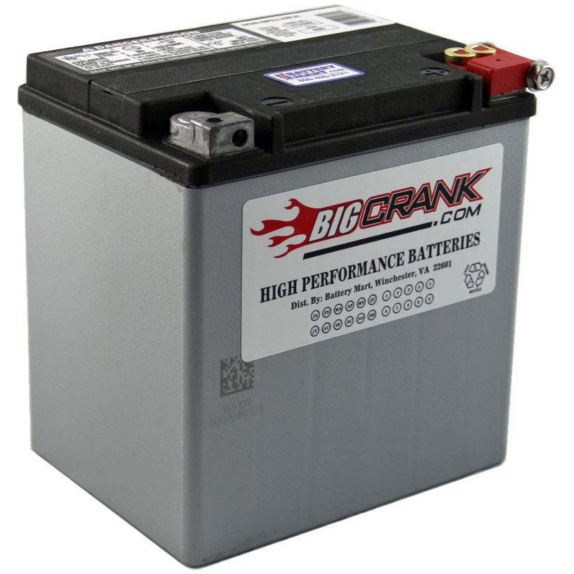 Big Crank ETX30L battery. Applicable to Moto Guzzi V700, V7 Special, Ambassador, 850 GT, 850 GT California, Eldorado, and 850 California Police motorcycles.