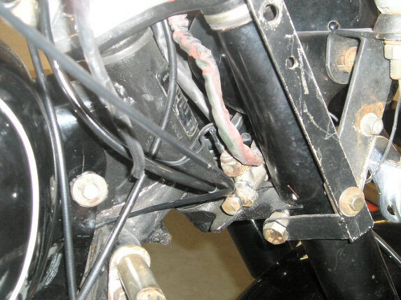 Installing new brake lines on Moto Guzzi 850 GT, 850 GT California, Eldorado, and 850 California Police motorcycles equipped with a disc front brake.