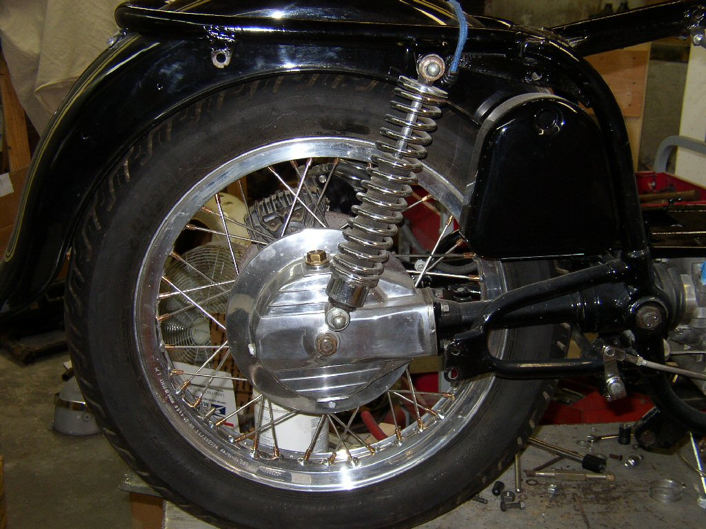 The rear drive, swing arm and rear wheel are also T-3 just to make it all bolt on and avoid modifications. They can be done and are not difficult but I just preferred to have everything match.