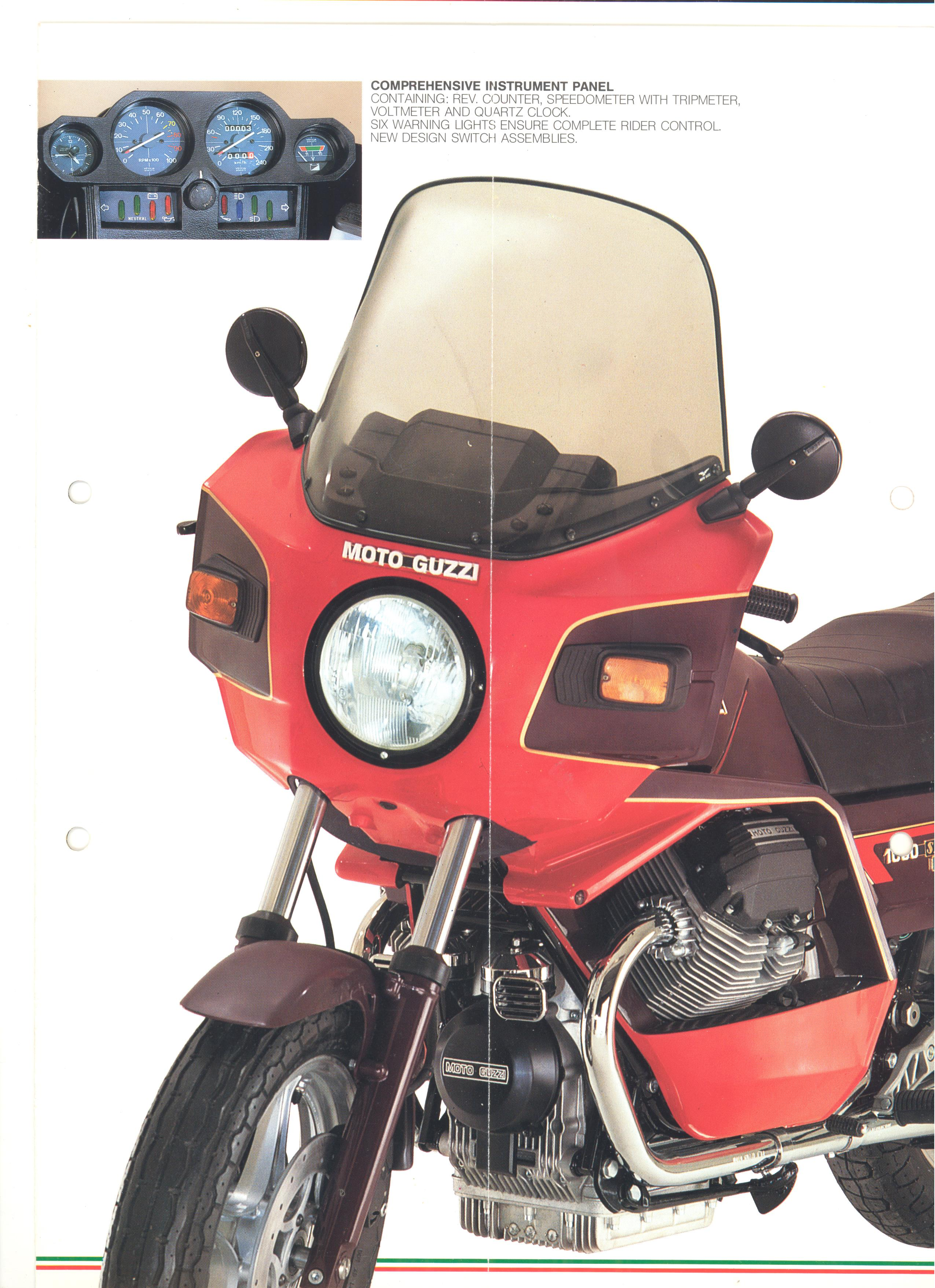 Moto Guzzi factory brochure: 1000 SP II