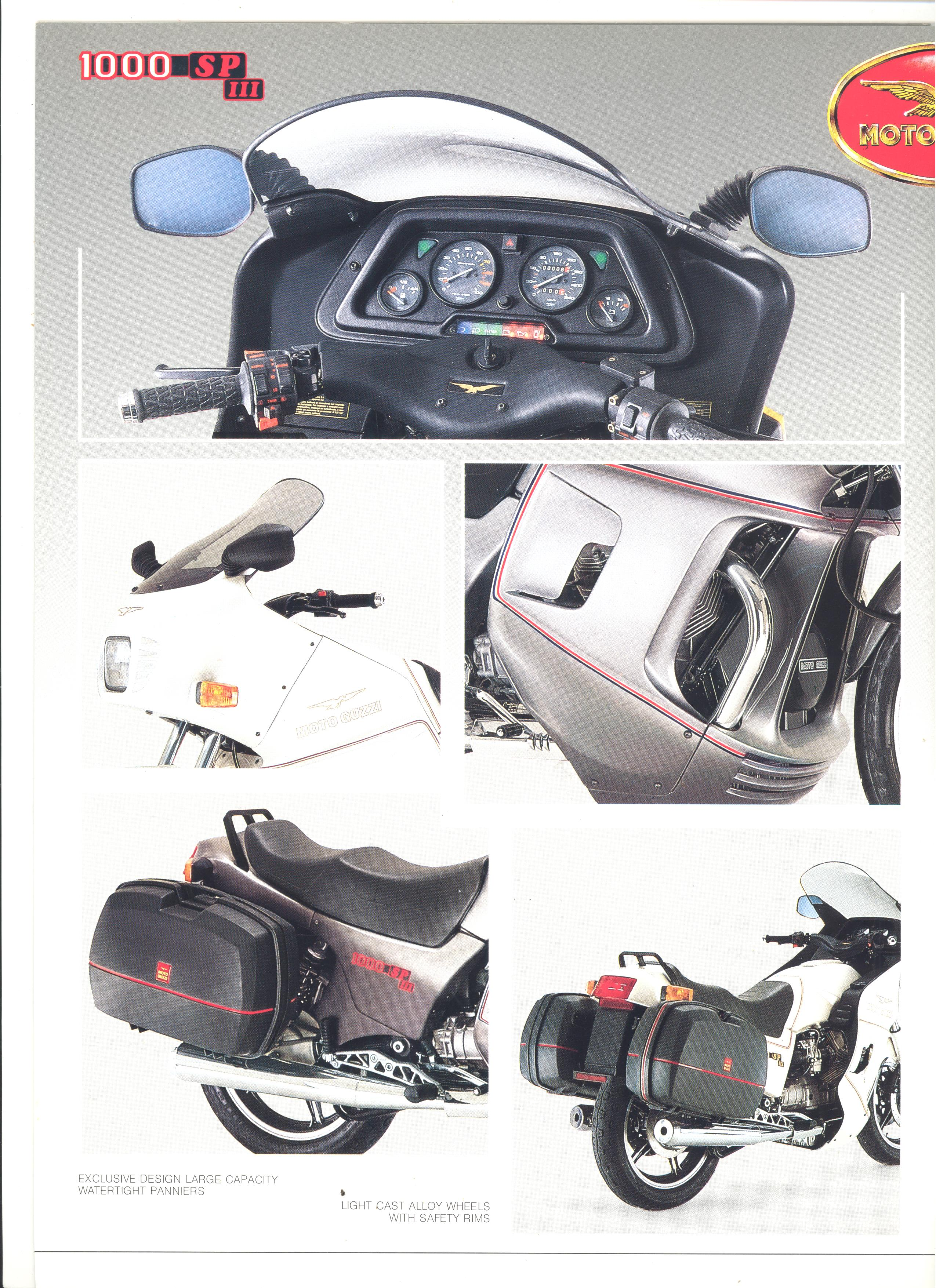 Moto Guzzi factory brochure: 1000 SP III