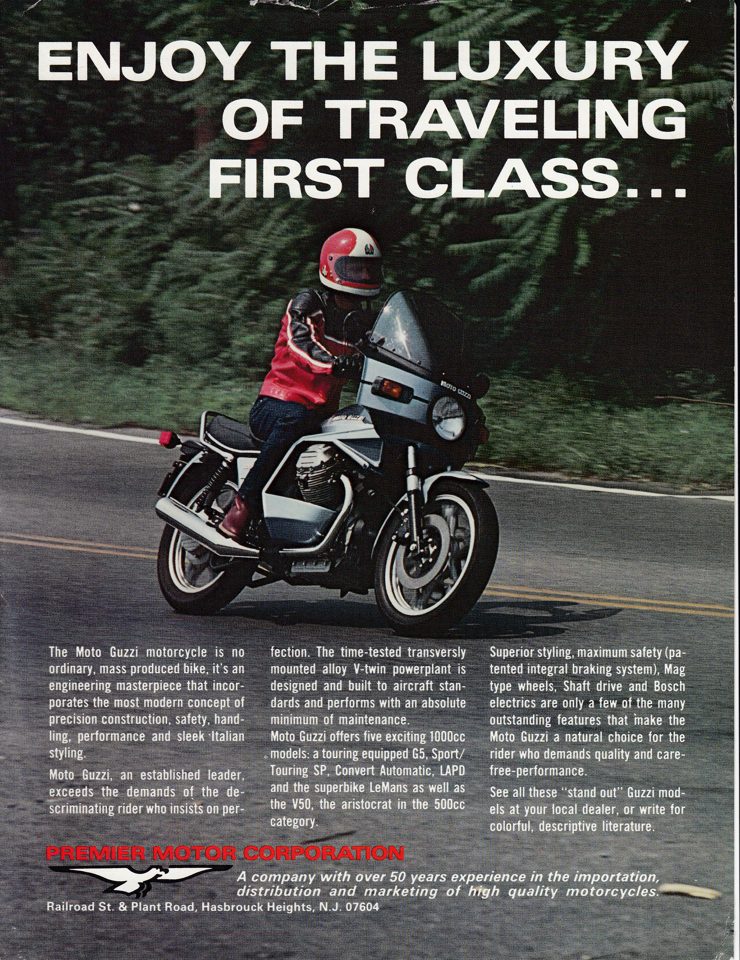 Brochure - Moto Guzzi 1000 SP Enjoy the luxury of traveling first class...