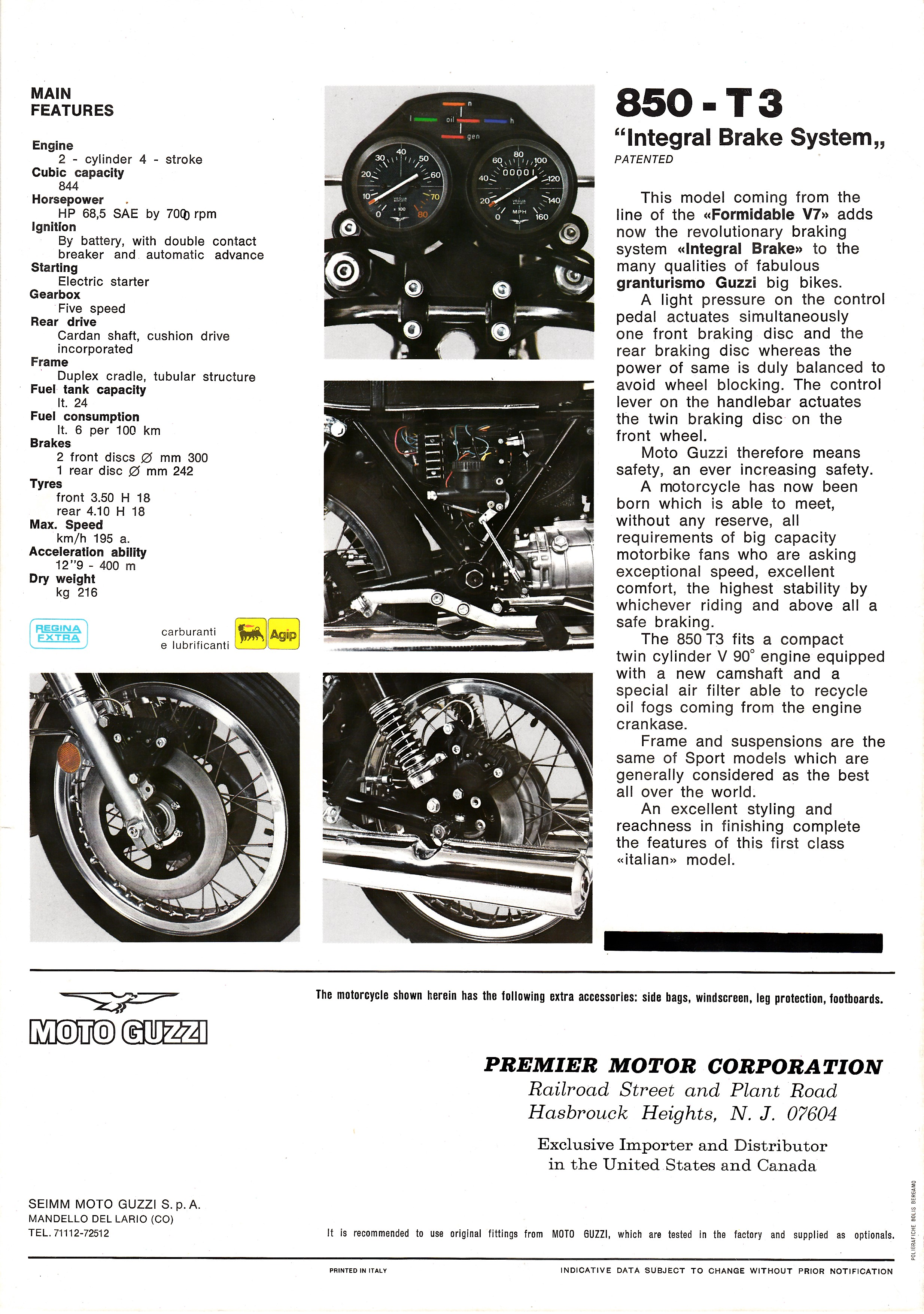 Brochure - Moto Guzzi 850 T3 (with windshield) [English]