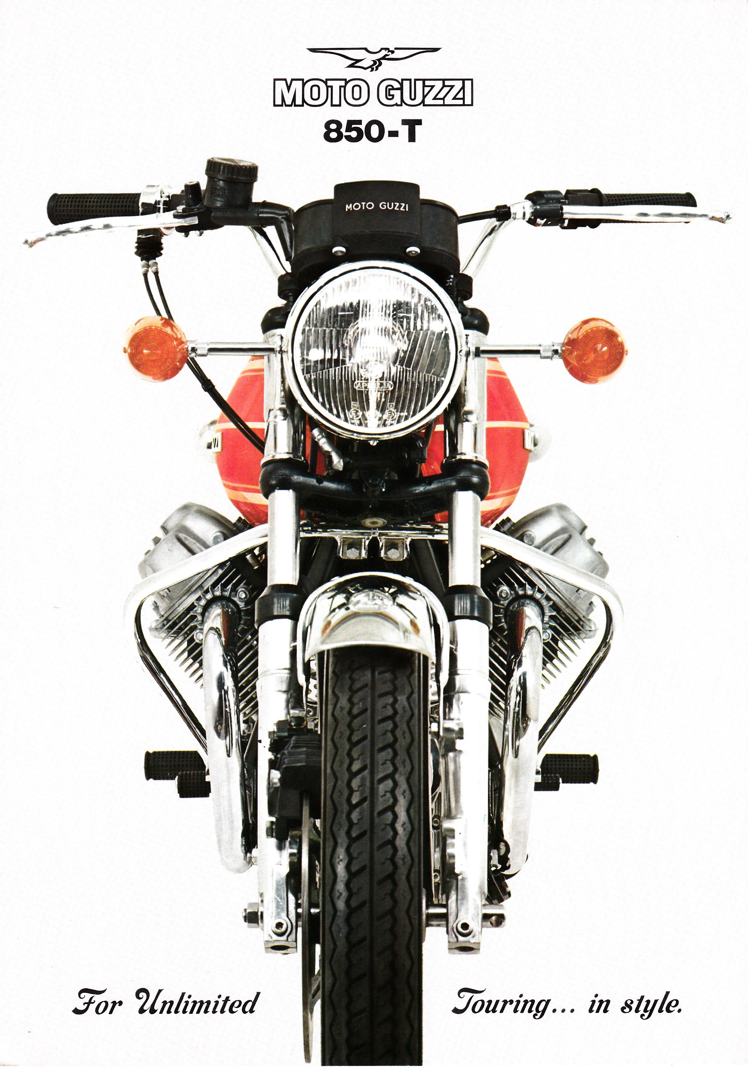 brochure - moto guzzi 850 t - more moto guzzi topics - moto guzzi - topics