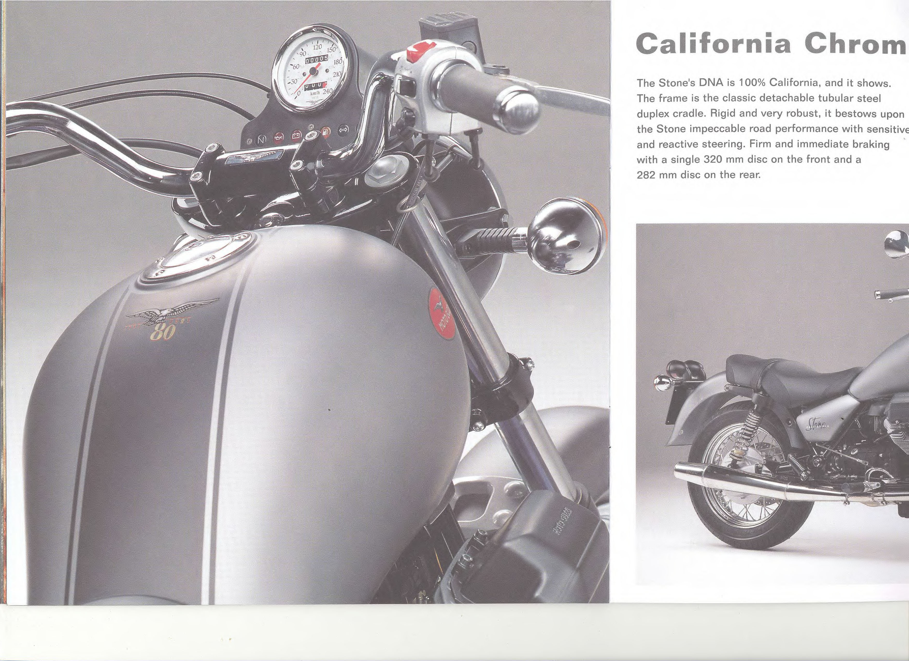 Moto Guzzi factory brochure: California Stone