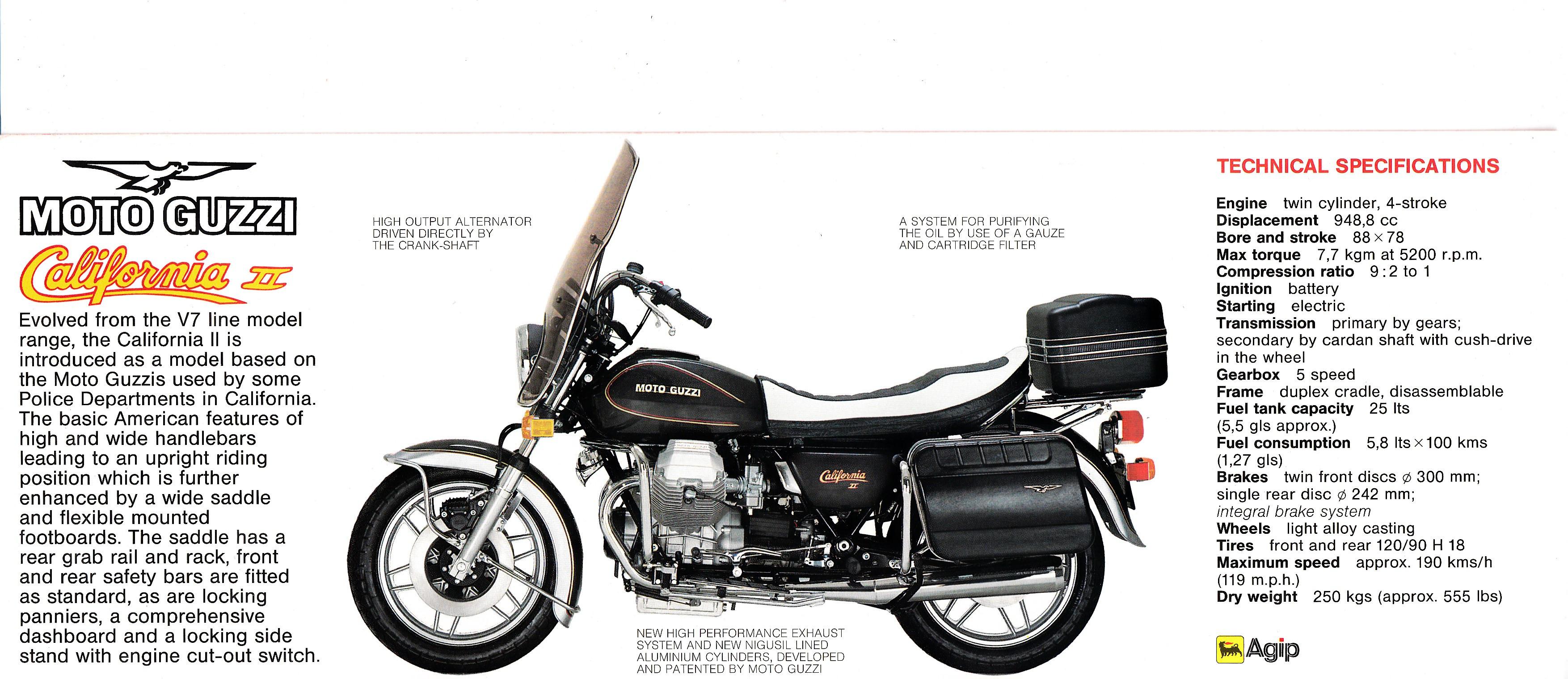 brochure moto guzzi california ii folded style brochure more moto guzzi topics moto. Black Bedroom Furniture Sets. Home Design Ideas