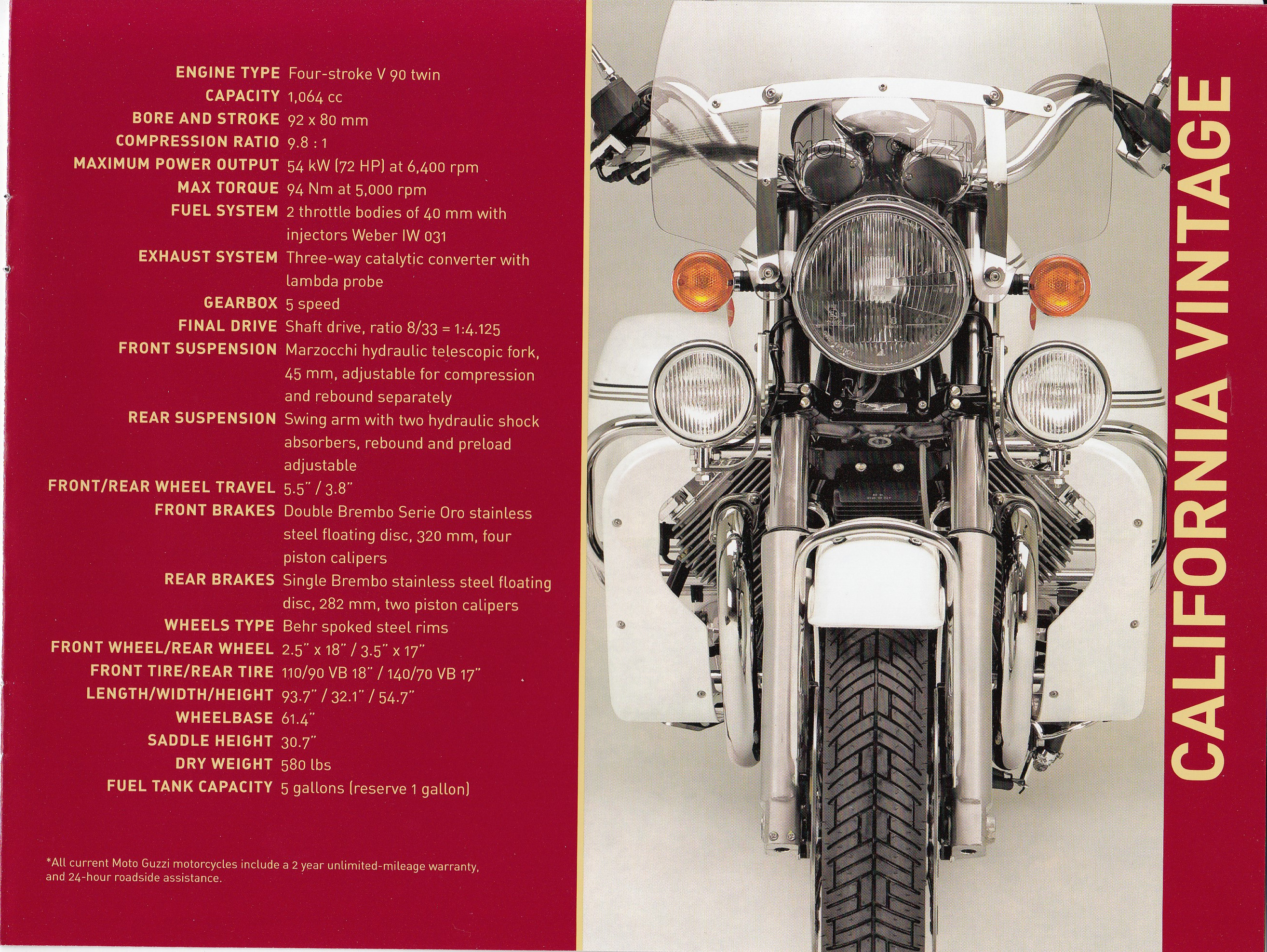 Brochure - Moto Guzzi model range 2009