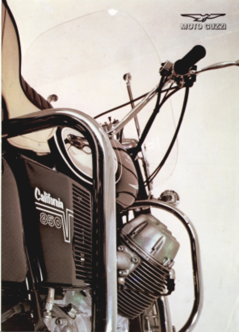 Moto Guzzi factory brochure: 850 California Police