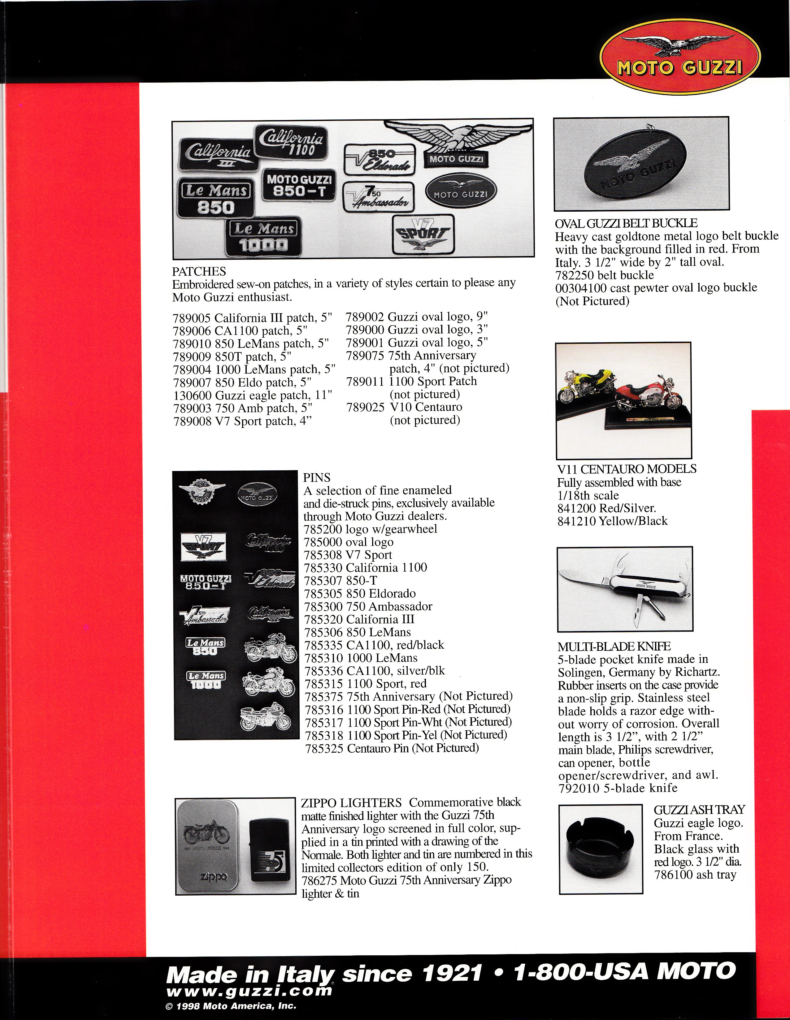 Brochure - Moto Guzzi Accessories (1998)
