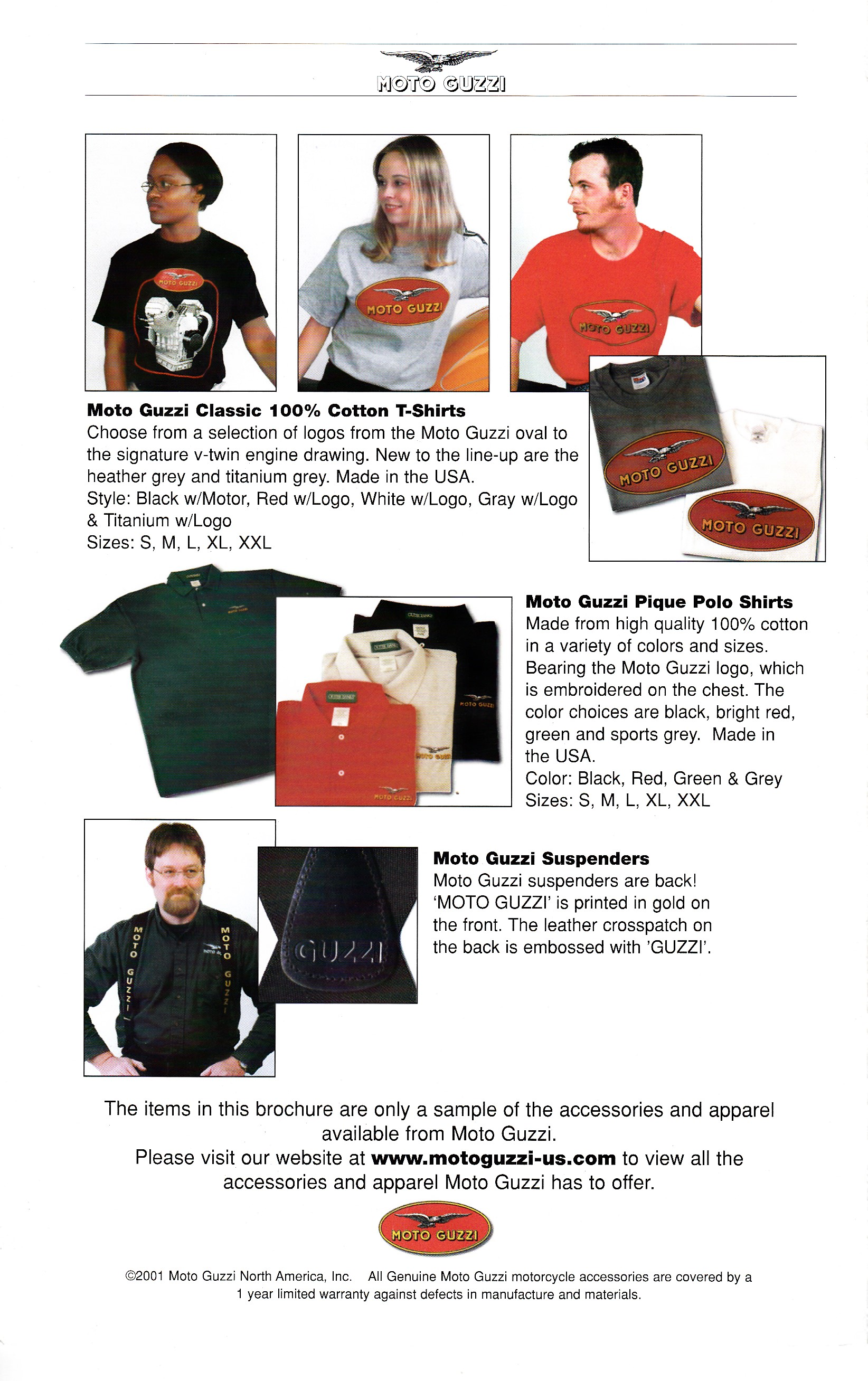 Brochure - Moto Guzzi Accessories and apparel 2001