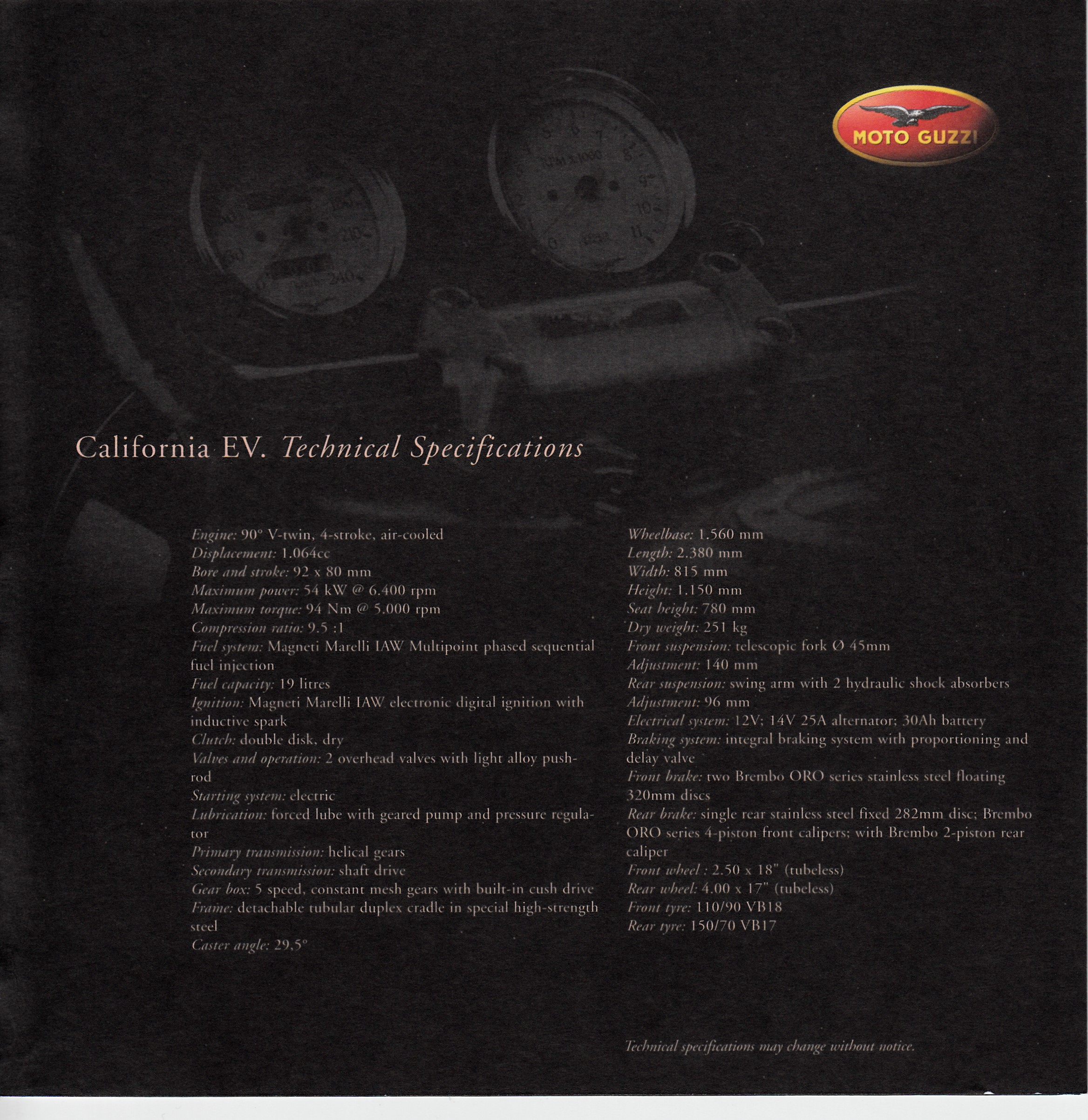 Brochure - Moto Guzzi Collection 2001