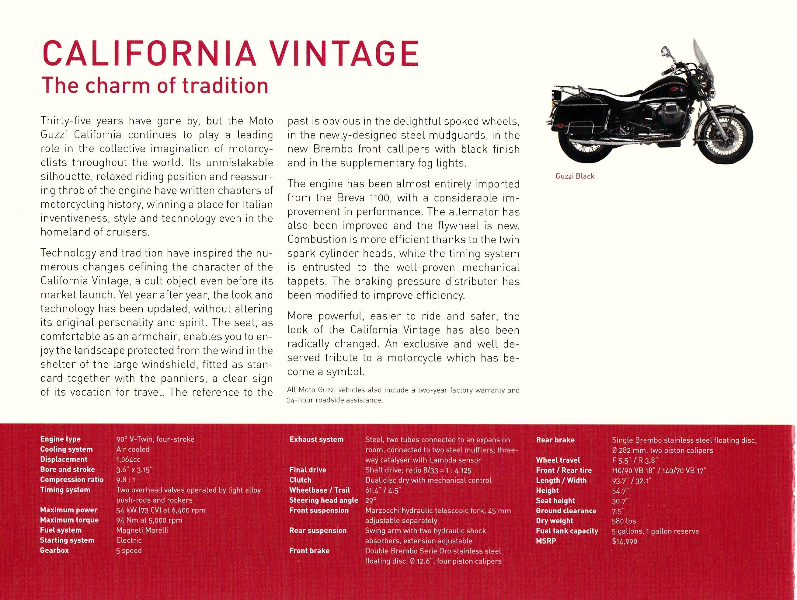 brochure - moto guzzi model range 2007 - more moto guzzi topics - moto guzzi - topics