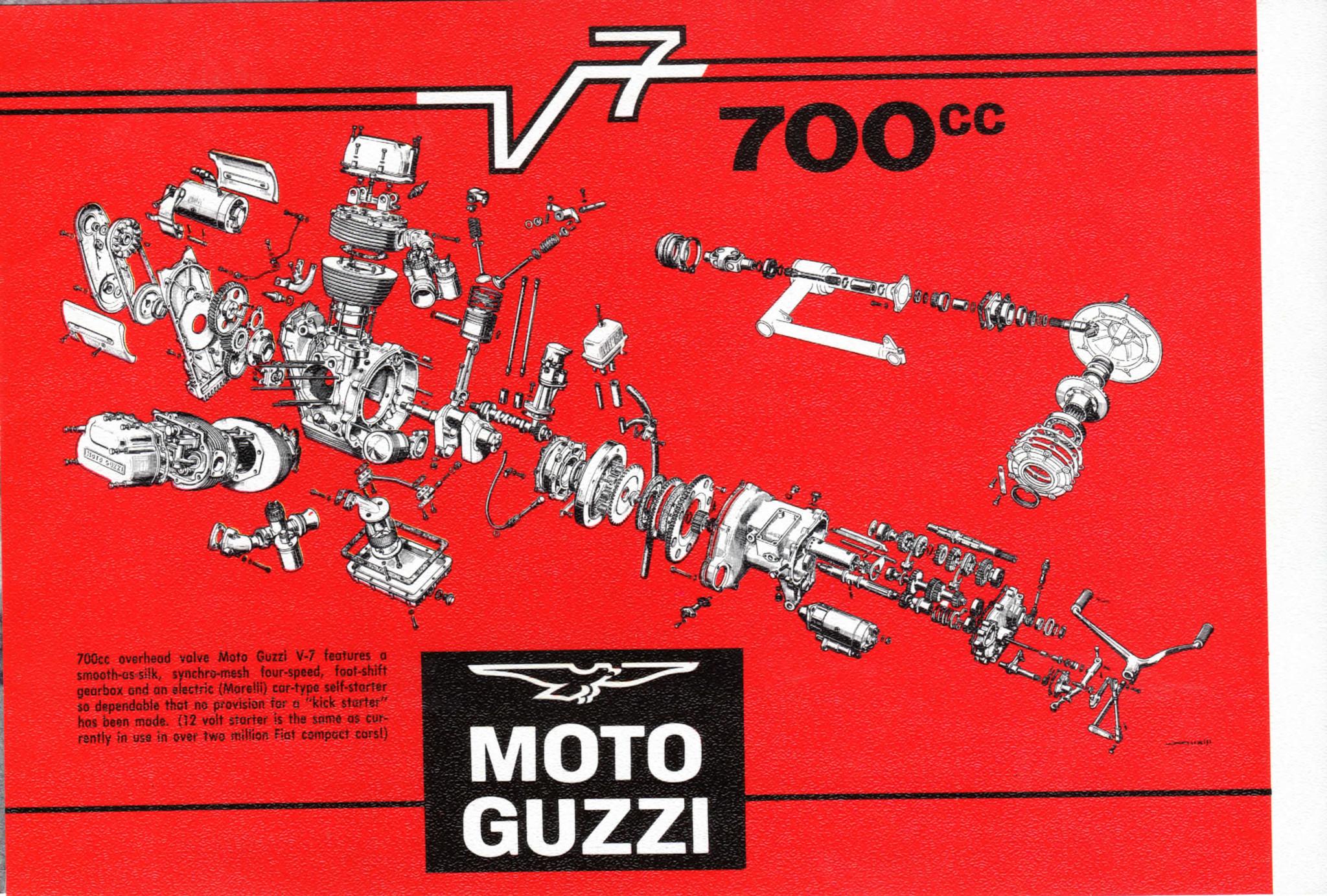 brochure - moto guzzi v700  1967  - more moto guzzi topics - moto guzzi - topics