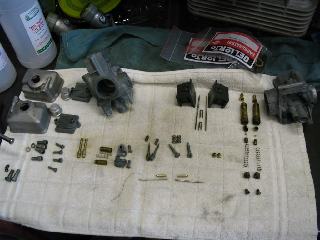 A bunch of carburetor parts!