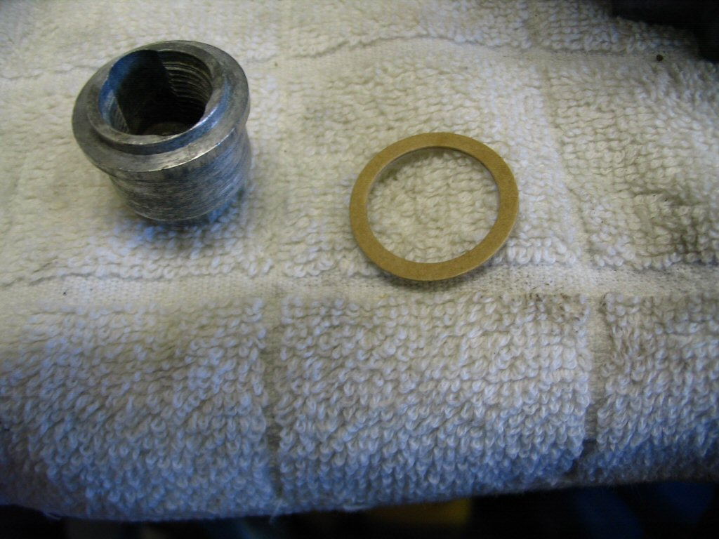 The float bowl nut and gasket.