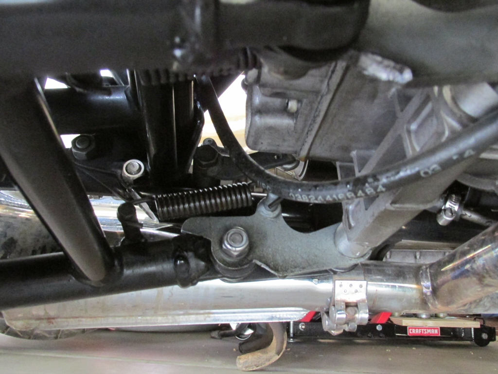 Moto Guzzi V1000 I-Convert center stand mount.