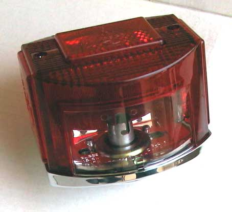 CEV 9350 tail light as used on some of the Moto Guzzi 850 GT, 850 GT California, Eldorado, and 850 California Police motorcycles.