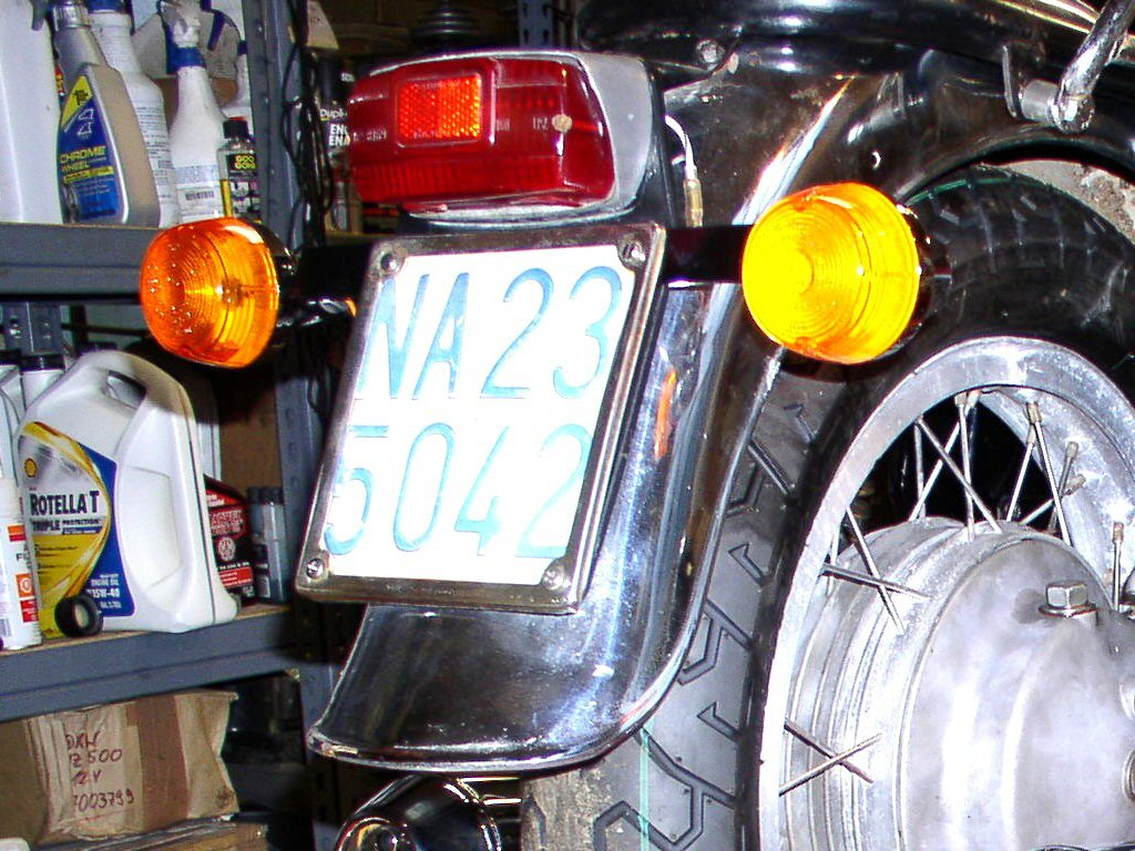 Aprilia tail light as used on some of the Moto Guzzi 850 GT motorcycles.