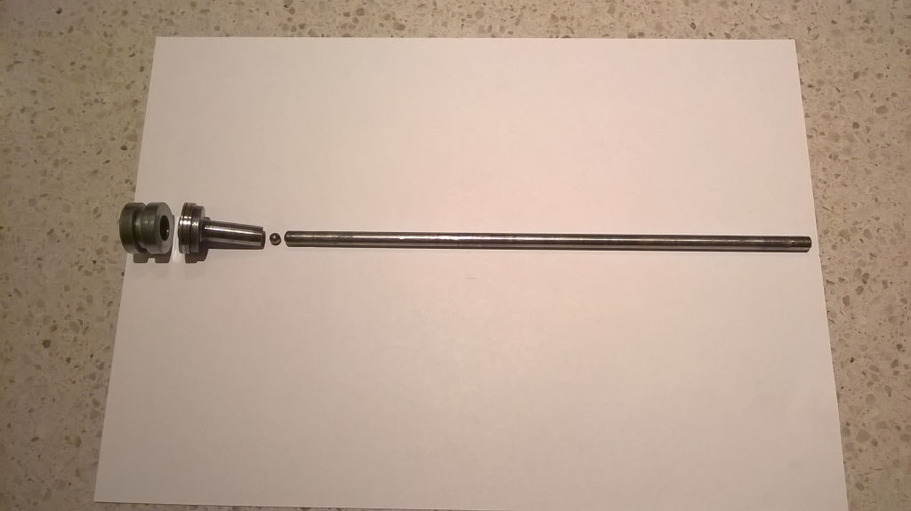 Very early clutch push rod assembly, as used on the Moto Guzzi V700.