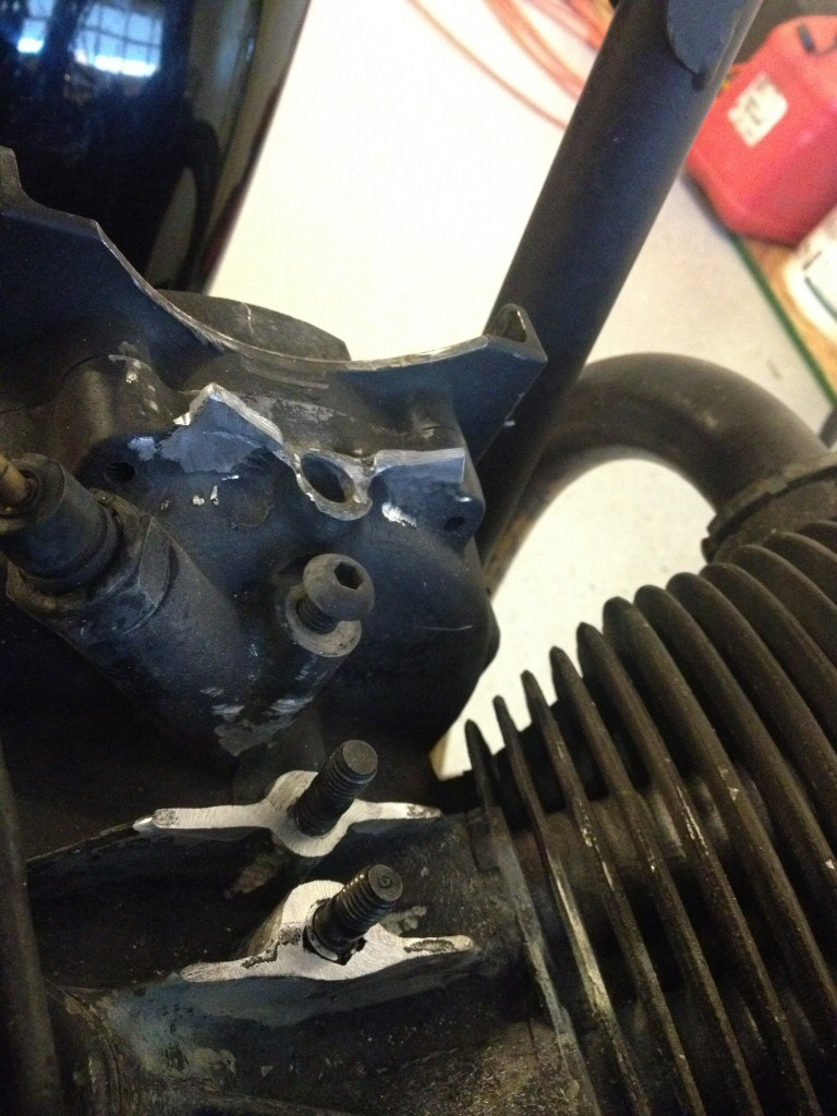 Karl Saar's repair to a damaged crankcase on Moto Guzzi V700, V7 Special, Ambassador, 850 GT, 850 GT California, Eldorado, and 850 California Police motorcycles.