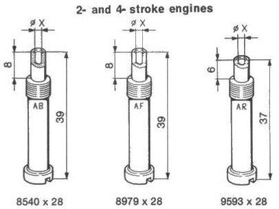Atomizer specifications for Dellorto PHBE-PHF-PHM