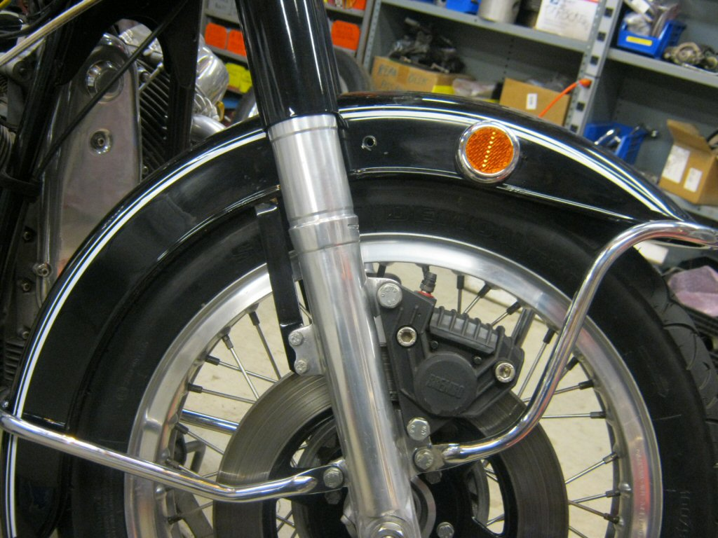 Disc brake fender stays.
