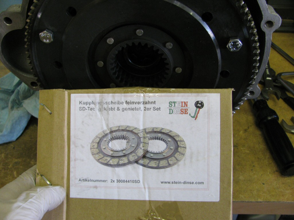 For reference, I used these clutch plates from Stein Dinse (sold by MG Cycle in the USA).
