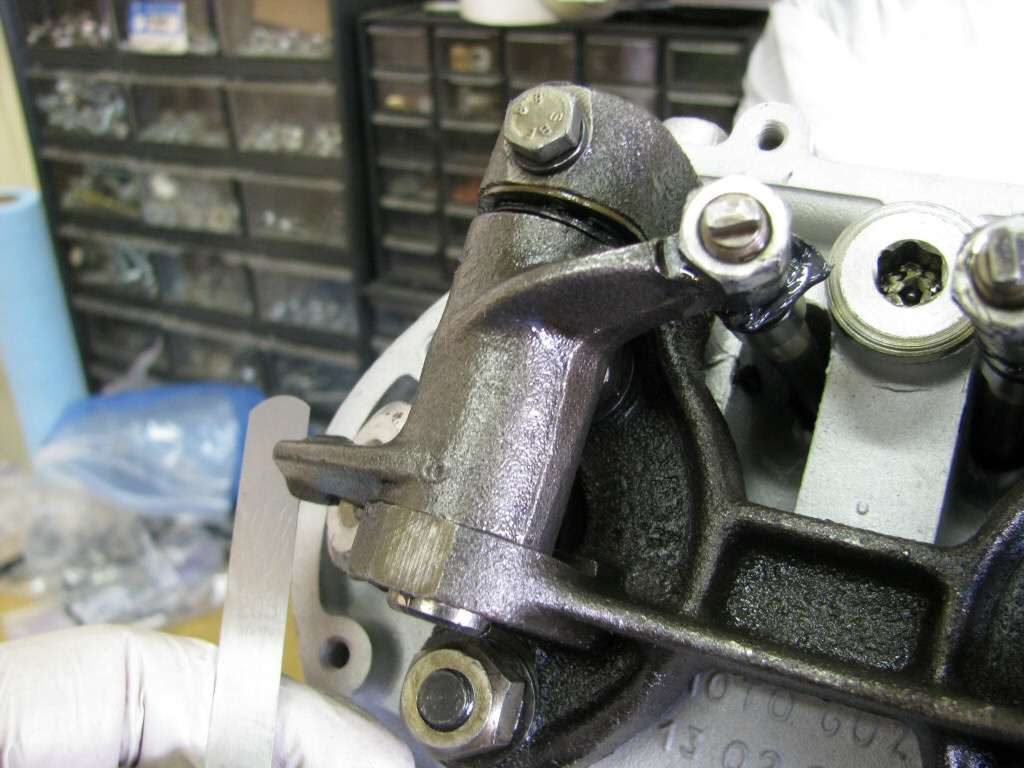 I set the valve clearances per Moto Guzzi specifications.