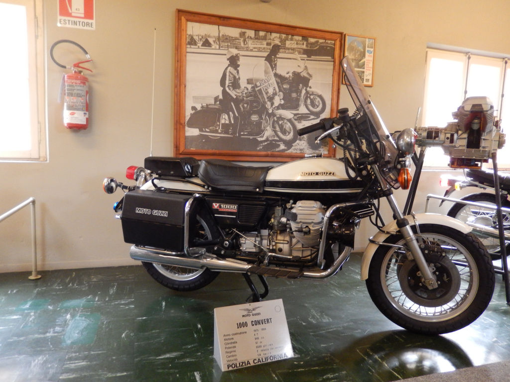 Moto Guzzi V1000 I-Convert California Police. Photo taken at the Moto Guzzi factory museum.