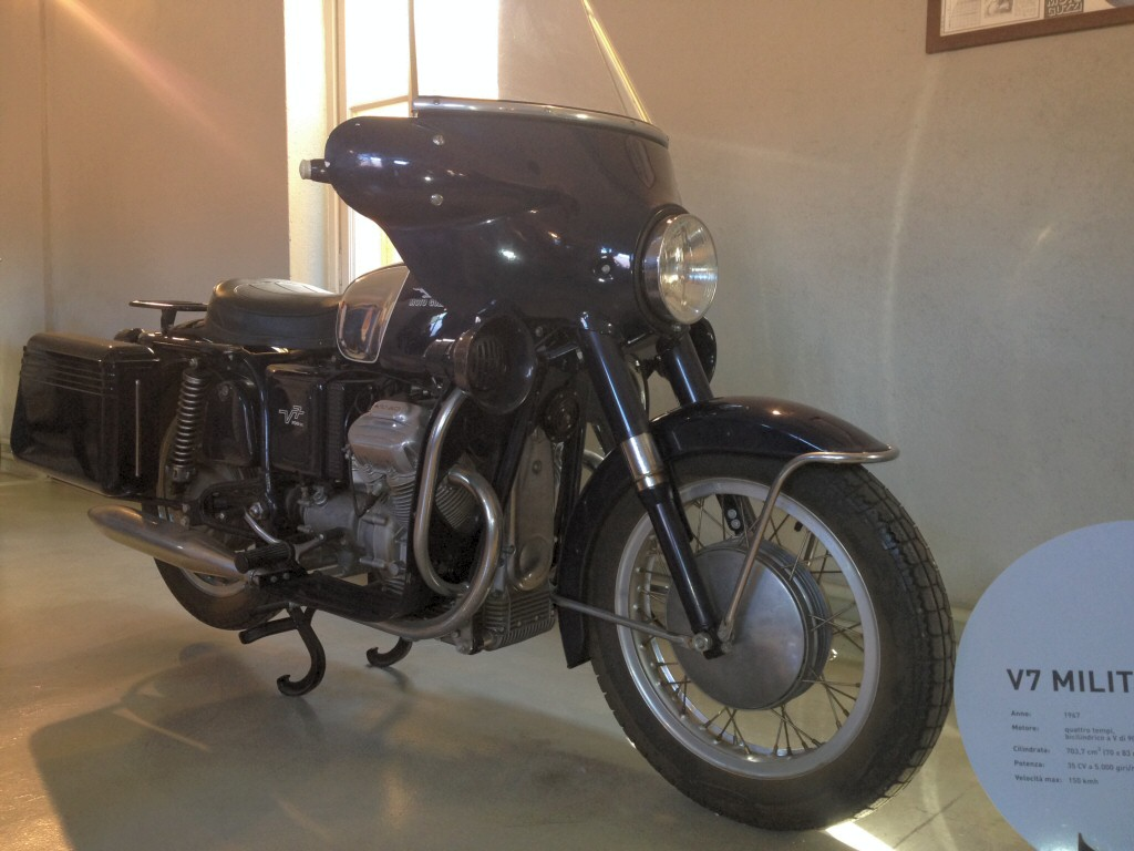 1967 Moto Guzzi V700 Military. Photo taken at the Moto Guzzi factory museum.