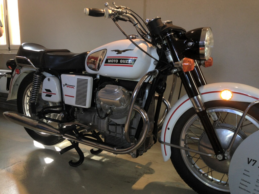 Moto Guzzi V7 Special. Photo taken at the Moto Guzzi factory museum.